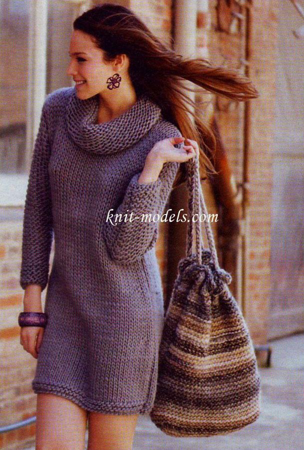 Сумка-мешок (вязание спицами)