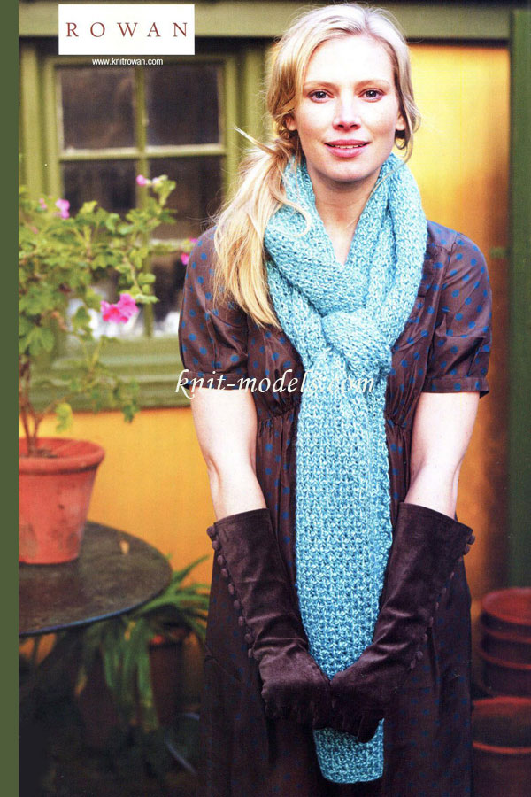 Ажурные узоры вязания спицами шарфов