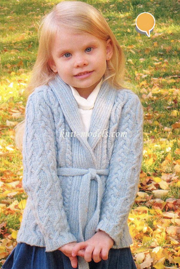 Вязание для девочек спицами.
