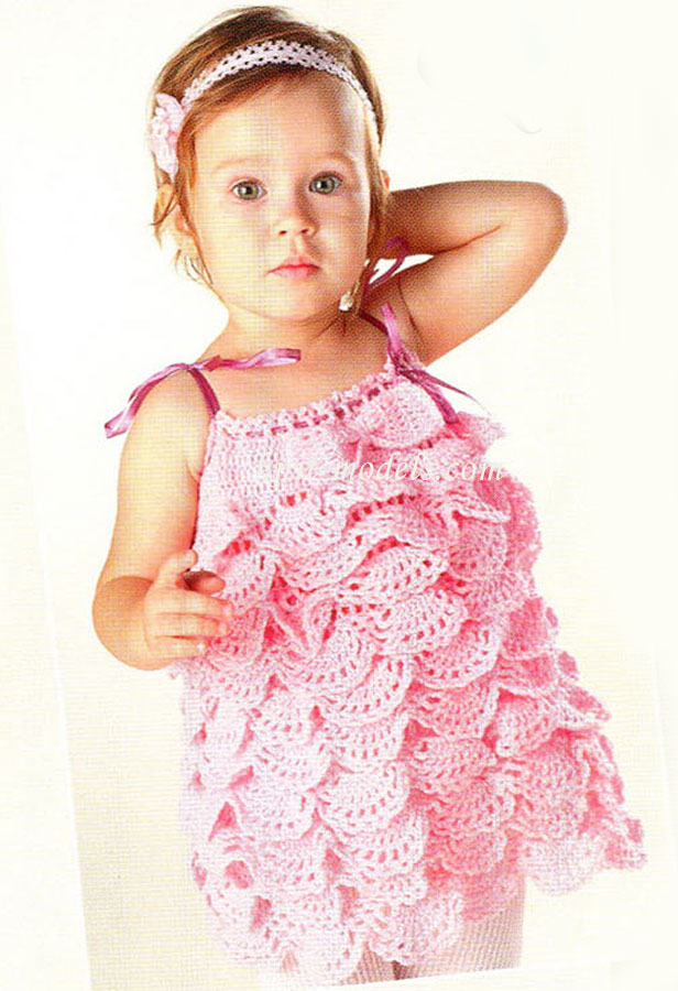 Детские вязаные спицами платья и сарафаны с описанием процесса. . Вязание для детей спицами