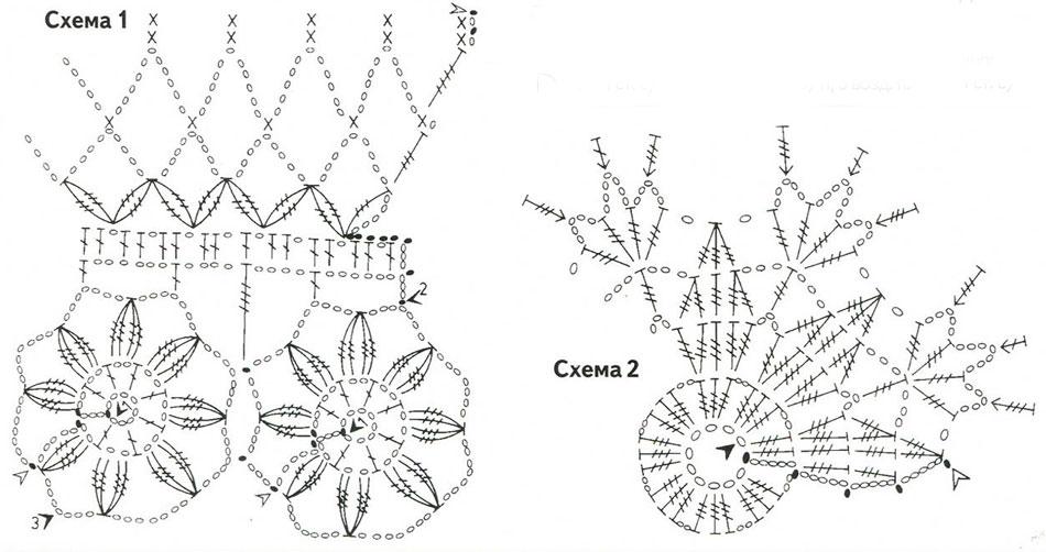Схема вязания крючком новогодних шаров 62