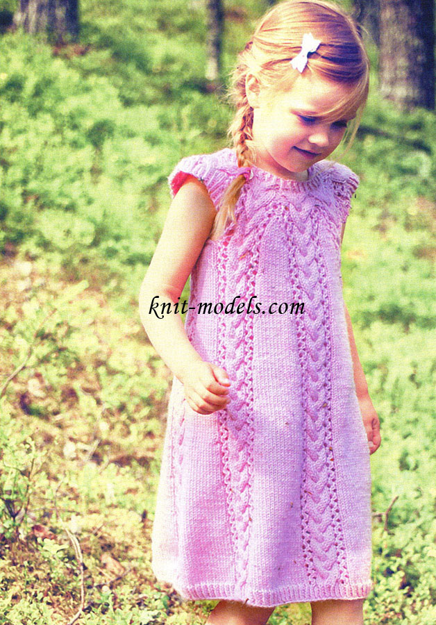 Вязаные платья для девочек 11 лет спицами
