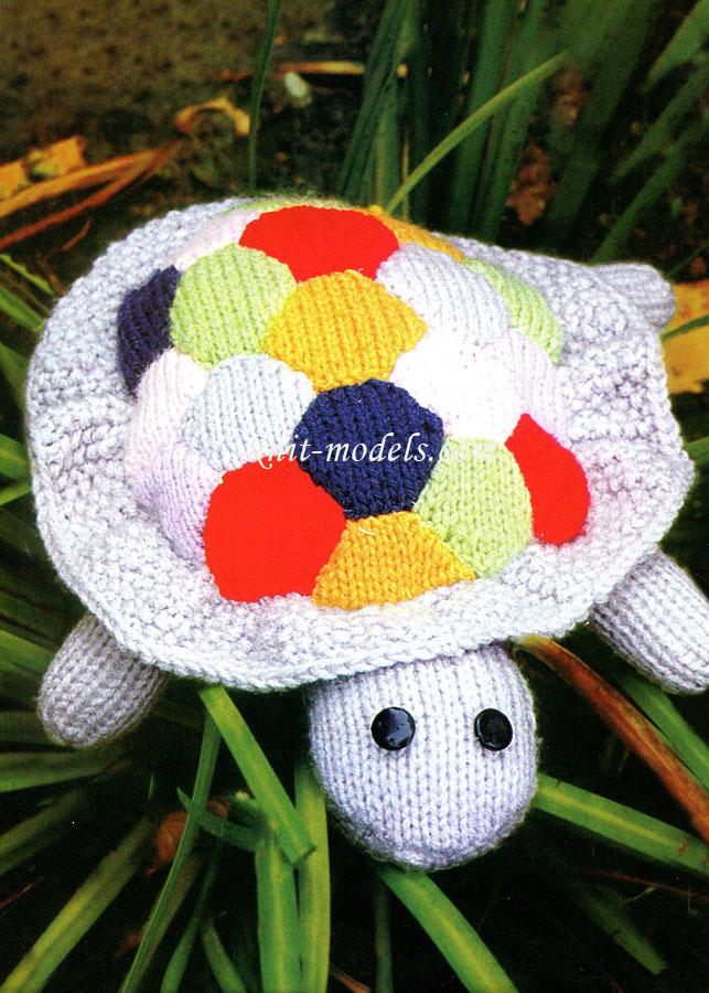 Черепаха - вязаная игрушка
