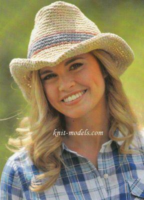 шляпа для женщины вязание крючком