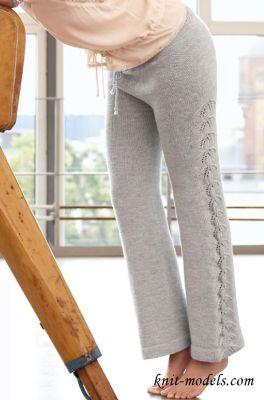 Женские вязаные брюки