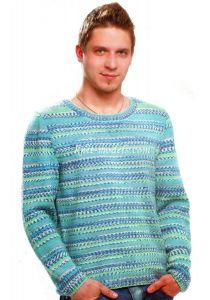 Пуловер из пряжи секционного крашения