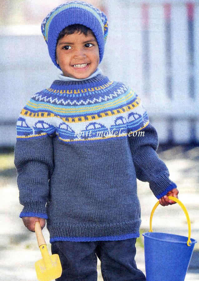 Вязание крючком для мальчиков свитер 57