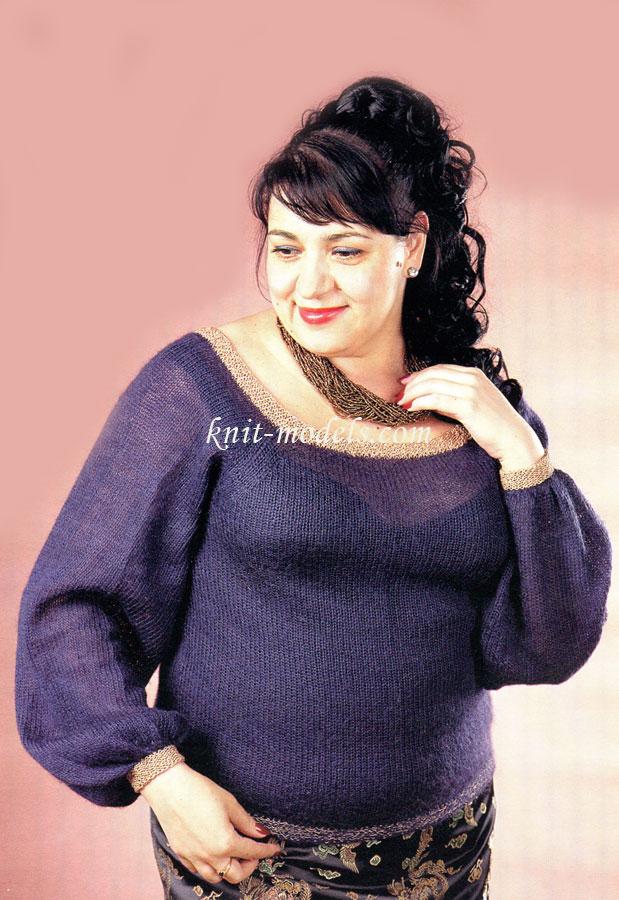 Пуловер Для Полных Женщин