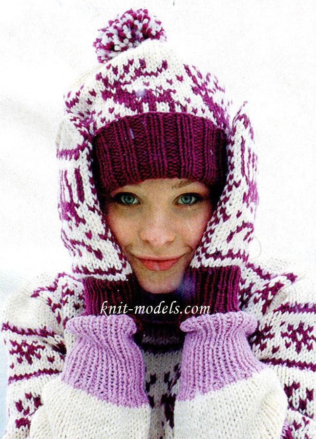 Вязаный свитер 17